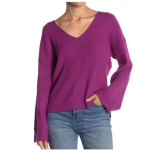 Free Press Clothing V-Neck Sweater Bell Sleeves